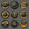 Premium quality badge labels set