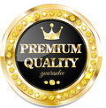Premium quality banner glossy for web sites Royalty Free Stock Image