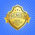 Premium Quality Best Golden Label 100 Guarantee Royalty Free Stock Photo