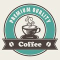 Premium quality coffee label Royalty Free Stock Photos