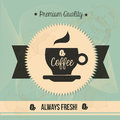 Premium quality coffee over vintage background vector illustration Royalty Free Stock Photography