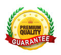 Premium quality guaranteed label isolated on white background d render Royalty Free Stock Photo