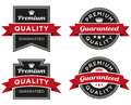 Premium quality guaranteed label a or stamp that can be used on packaging or a web page Stock Image
