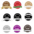Premium quality label collection money back with ribbons in vintage style Stock Images