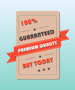 Premium quality label guaranted percent Stock Photo