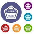 Premium quality label icons set