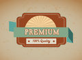 Premium quality over vintage background illustration Stock Image
