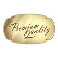 Premium quality plaque text wording on a golden burnished of shiny glistening image illustration graphic Stock Images