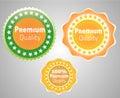 Premium quality vector label. Royalty Free Stock Photo