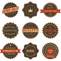 Premium Quality Vintage Labels Stock Photo