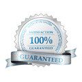 Premium satisfaction guarantee label quality and customer Stock Photos