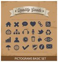 Premium and simple pictograms set Stock Photos