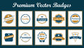 Premium vector badges set of vintage vintage quality labels illustration full and resizable elegant and modern suitable for Stock Photography