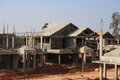 Premium villa under construction a stage in bangalore Royalty Free Stock Images