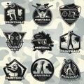 Premium Vintage Paintball Club Labels Set
