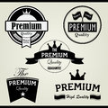 Premium vintage stamp and label set of quality icon for stamps labels Stock Image