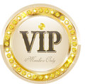Premium vip banner glossy for web sites Royalty Free Stock Photo