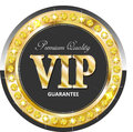 Premium vip banner glossy for web sites Stock Images