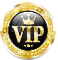 Premium vip banner glossy for web sites Royalty Free Stock Images