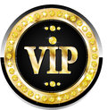 Premium vip banner glossy for web sites Royalty Free Stock Photography