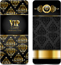 Premium vip cards glossy for web sites Royalty Free Stock Images