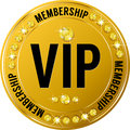 Premium vip round icon glossy for web sites Stock Photos