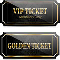 Premium vip tickets glossy for web sites Stock Image