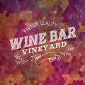 Premium Wine bar vintage label illustration background Royalty Free Stock Photo