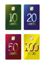 Prepaid discount cards Stock Image