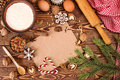 Preparation Christmas New Year sweeties. Ingredients and holiday Royalty Free Stock Photo