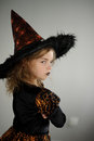 Halloween Party. Girl in image the evil sorcerers.