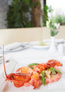 Prepared lobster Stock Photography