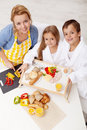Preparing breakfast together Royalty Free Stock Images