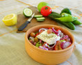 Preparing a Greek salad Royalty Free Stock Photography