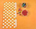 Preparing Happy Halloween candy trick or treat bags Royalty Free Stock Photo