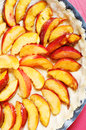 Preparing nectarine tart Royalty Free Stock Photos