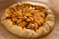 Preparing open pie or galette with apples Royalty Free Stock Photo