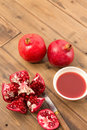 Preparing pomegranate juice Royalty Free Stock Photo