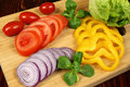 Preparing a salad Royalty Free Stock Image