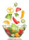 Preparing salad vegetable Stock Images