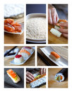 Preparing sushi Royalty Free Stock Image