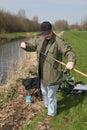 Preparing to fish Royalty Free Stock Image