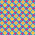 Preppy colorpop seamless pattern. Bright colors Invitation. Card. Background. Retro. Paper print. Fabric design. Website backdrop. Royalty Free Stock Photo