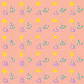 Preppy nautical wallpaper pattern Royalty Free Stock Photo