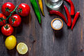 Prepring for cooking dinner. Vegetables on wooden table background top view copyspace
