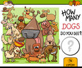 Preschool counting task with dogs