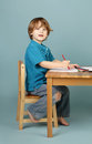 Preschool kids education concept of learning and art child drawing in class Stock Photography
