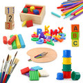 Preschool objects collection Stock Images