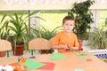 Preschooler ed abilità manuali Fotografia Stock