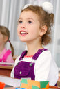 Preschooler girl Royalty Free Stock Images